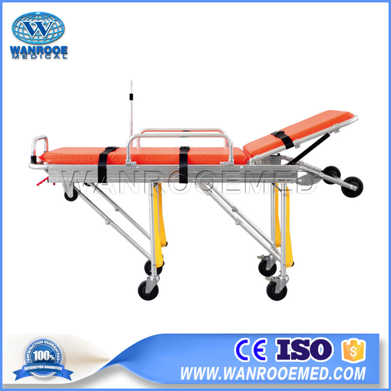 Emergency Ambulance Stretcher, Ambulance Patient Stretcher, Transport Stretcher Trolley, Aluminium Alloy Ambulance Stretcher