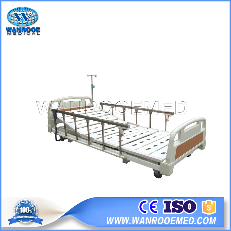 BAE307 Medical 3 Functions Electric Ultra Low Position Hospital Bed For Sale