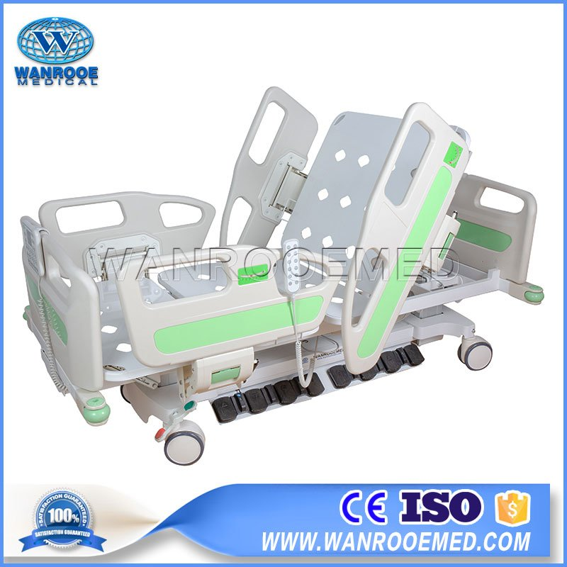 Adjustable 7 Functions Electric Two Column ICU Tilt Bed With Foot Pedal Control