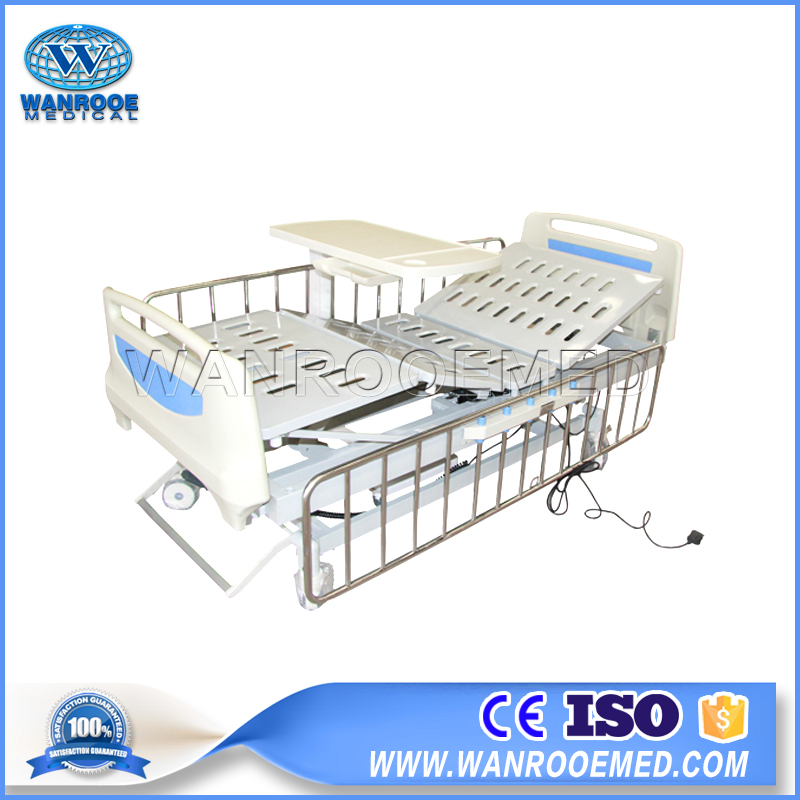 BAE315 Hospital ICU Surgical Medical Metal Patient Bed With Stainless Steel Siderails
