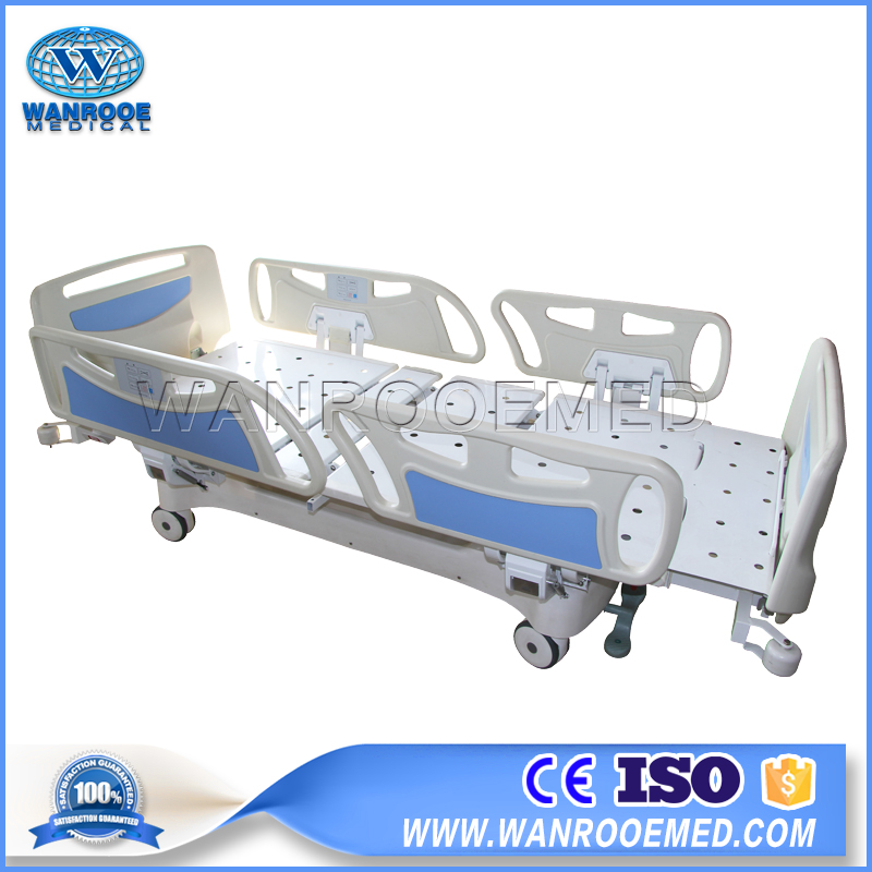 BAE501E Electric Column Structure Five Functions Adjustable Hospital Bed With Extension