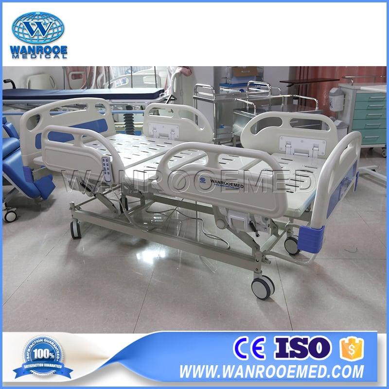BAE301 Hospital 3 Functions Adjustable Full Electric Patient Nursing Bed-Sterilizer, Hospital Bed, Ultrasound Scanner, Operating Room Equipment, Funeral Product, Stretcher Manufacturer – Rooe Medical