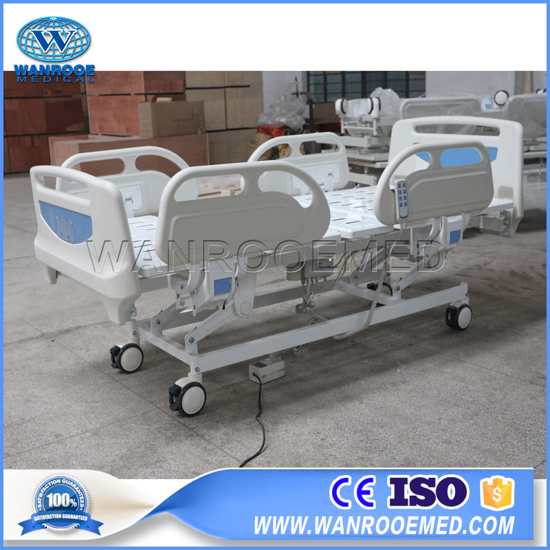 BAE304 Hospital Adjustable 3 Function Emergency Electric Bed With Double Side Castor