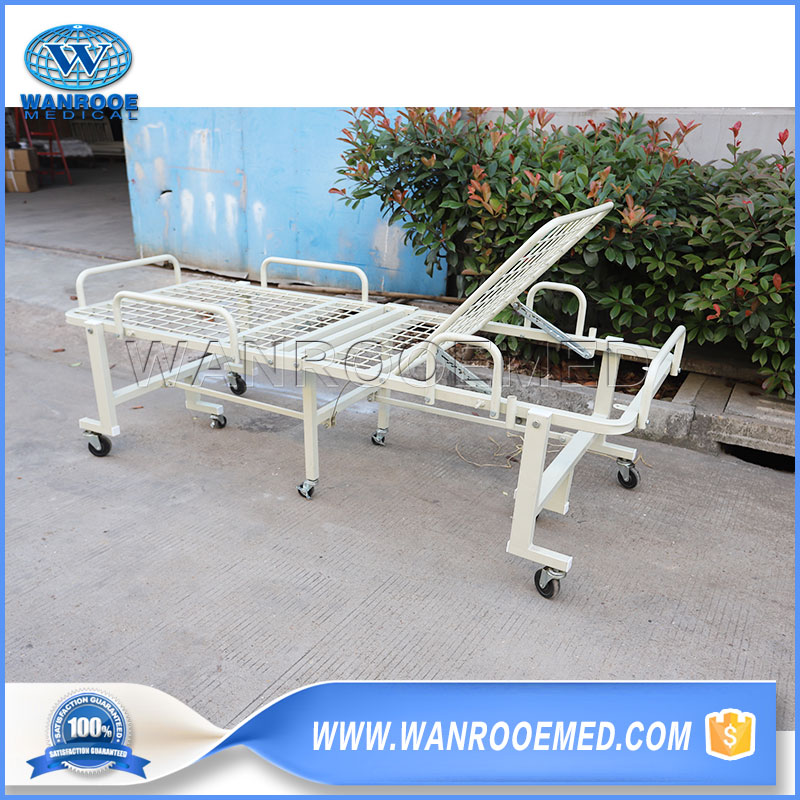 Foldable Hospital Bed, Hospital Folding Bed, Portable Hospital Bed, Manual Hospital Bed, Folding Patient Bed