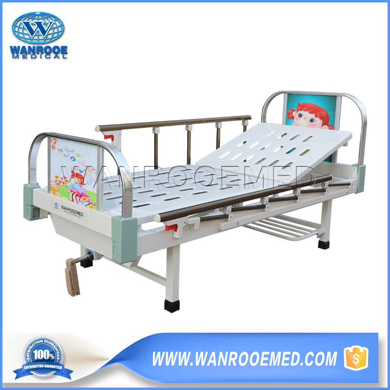 Pediatric Hospital Bed, Children Bed, Single Crank Paediatric Bed, One Function Paediatric Bed, Manual Child Bed