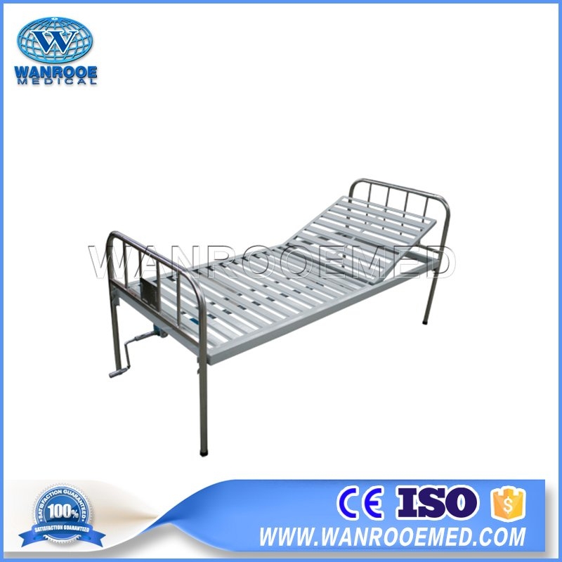 Manual Hospital Bed, Stainless Steel Hospital Bed, Manual Hospital Bed Price, One Function Hospital Bed, Single Crank Hospital Bed