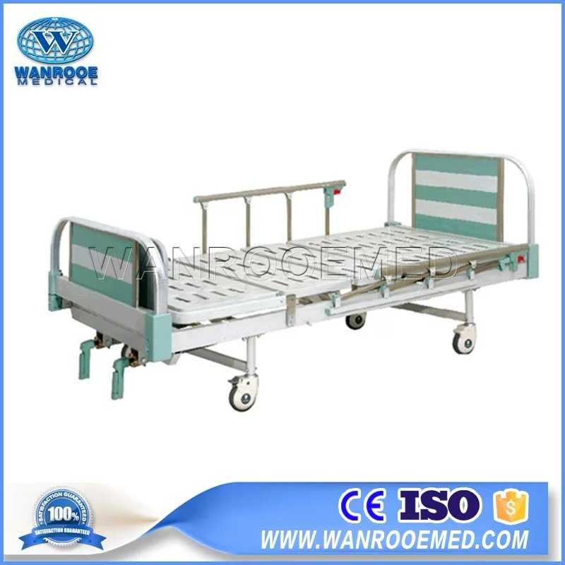 Two Crank Manual Bed, Manual Hospital Bed, Aluminum Alloy Hospital Bed, Hospital Adjustable Bed, 2 Function Hospital Bed