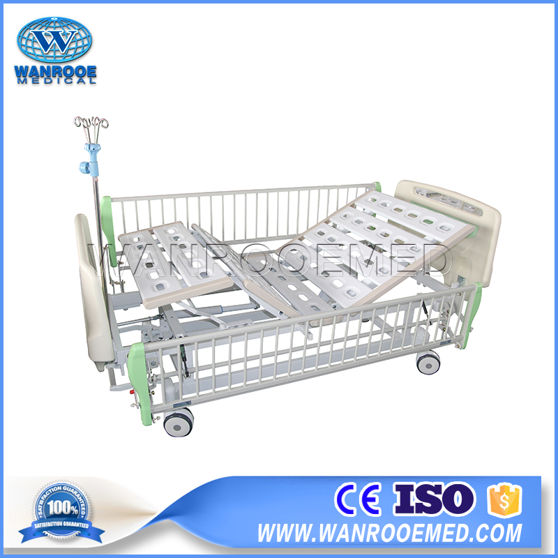 ABS Hospital Bed, Double Crank Hospital Bed, 2 Function Hospital Bed, Manual Hospital Bed Price, ABS Manual Bed