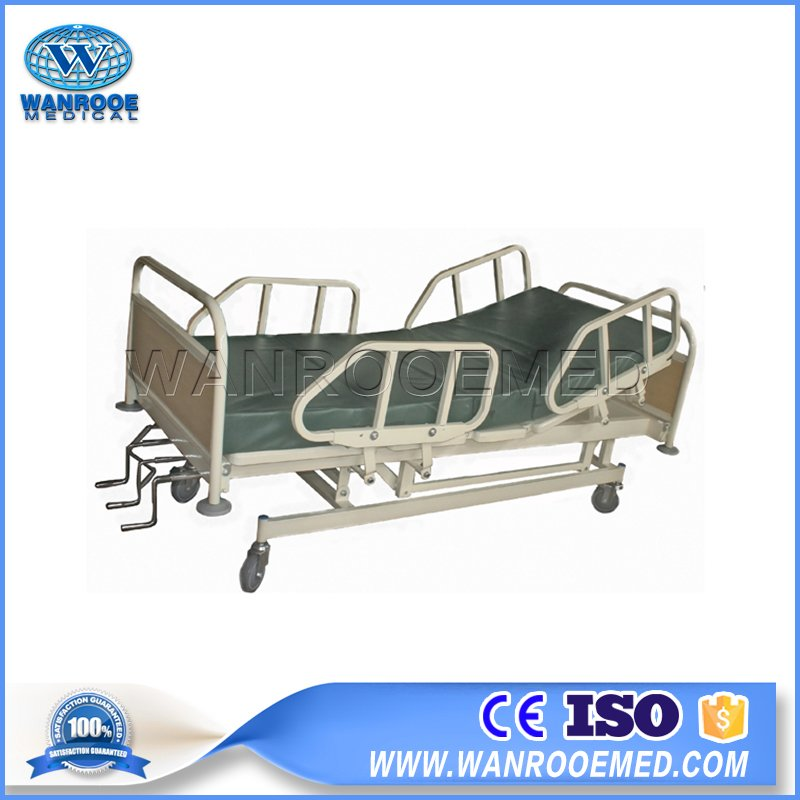 Manual Medical Bed, Five functions Hospital Bed, Manual Crank Bed, 4 Crank Hospital Bed, Manual Patient Bed