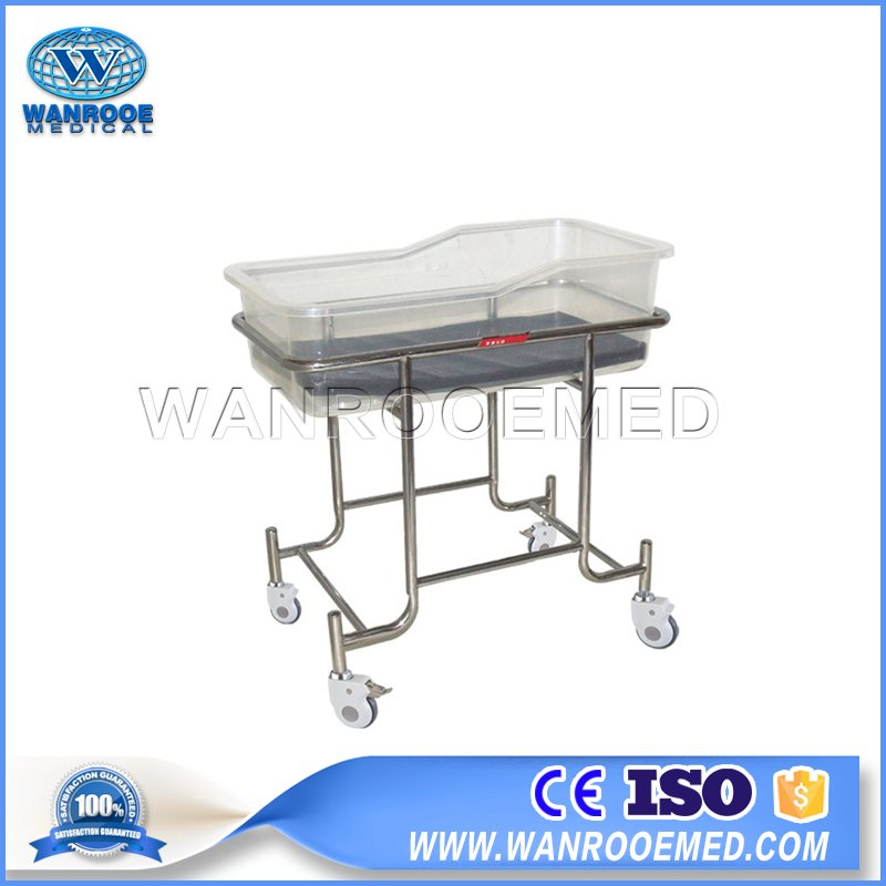 Hospital Baby Cribs, Hospital Infant Cot, Medical Baby Bassinet, Stainless Steel Infant Cot, Portable Hospital Baby Cribs