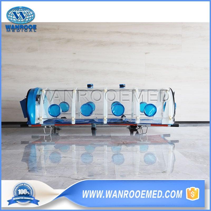 Isolation Stretcher, Biological Isolation Stretcher, Portable Isolation Stretcher, Medical Isolation Stretcher