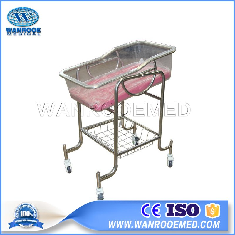Pediatric Hospital Bed, Hospital Baby Cot, Hospital Baby Cribs, Stainless Steel Baby Bassinet, Stainless Steel Baby Cot