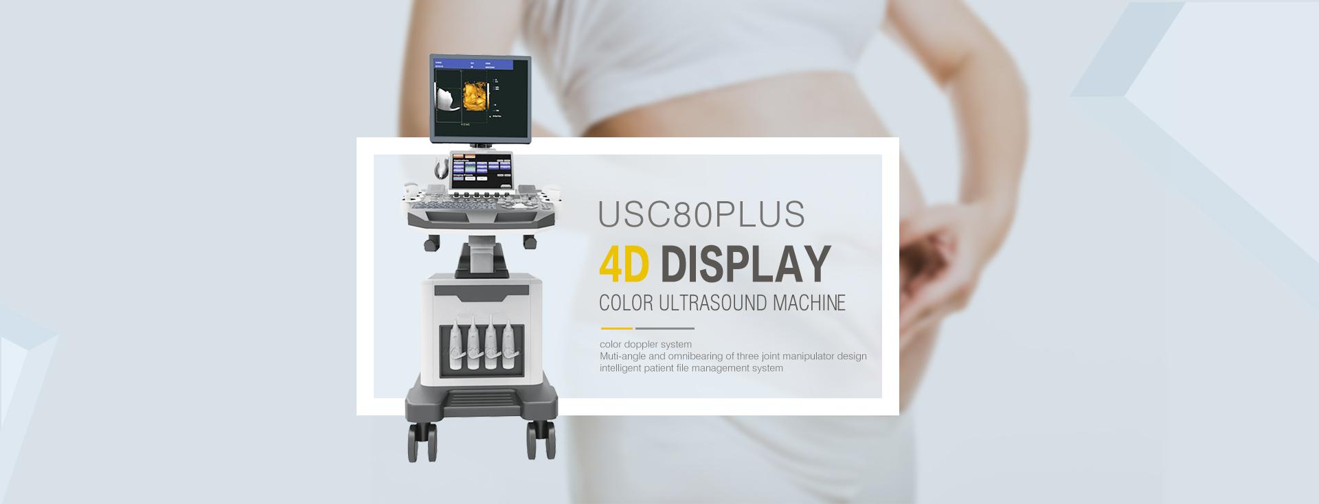 Medical 4d Cardiac Ultrasound Transducer Machine with Trolley