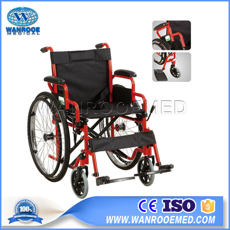 Manual Wheelchair,Hospital Wheelchair,Lightweight Wheelchair,Disabled Patient Wheelchair,Steel Frame Wheelchair