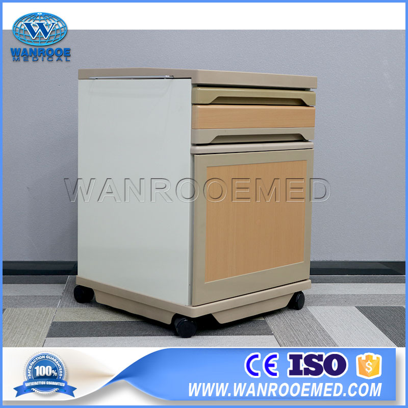 BC009 Hospital Clinic Portable Mobile Medical Bedside Cabinet Beside Locker