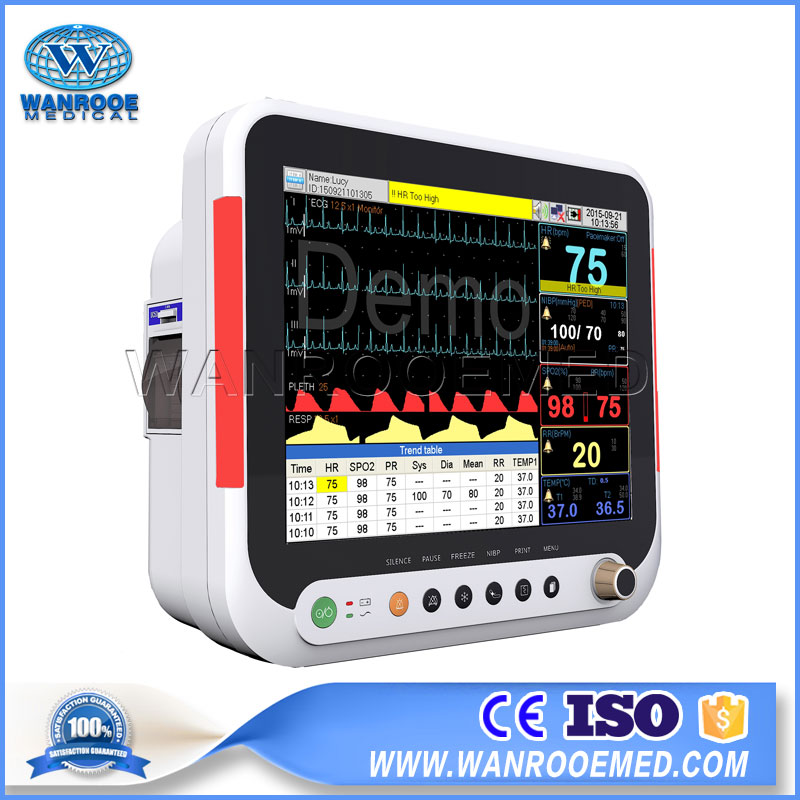 Multi-Parameter Patient Monitor, Patient Monitor, Medical Patient Monitor, Portable Patient Monitor, Hospital Patient Monitor