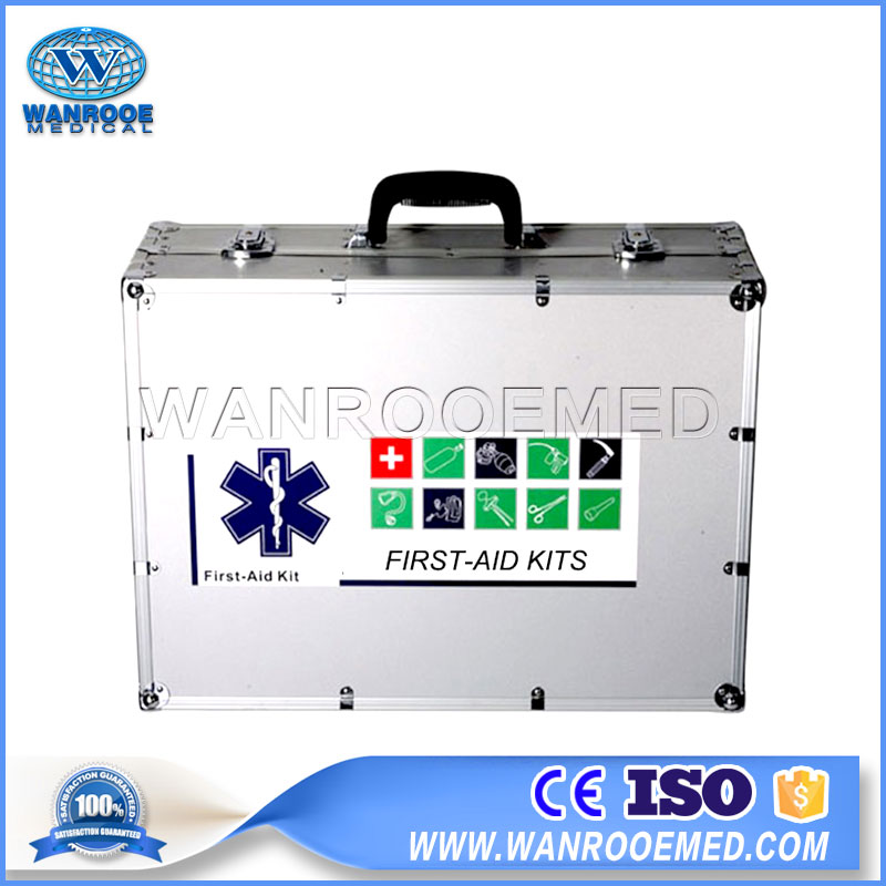 EFK-07C Professional Medical Emergency Travel Aluminum Complete First Aid Kit Box