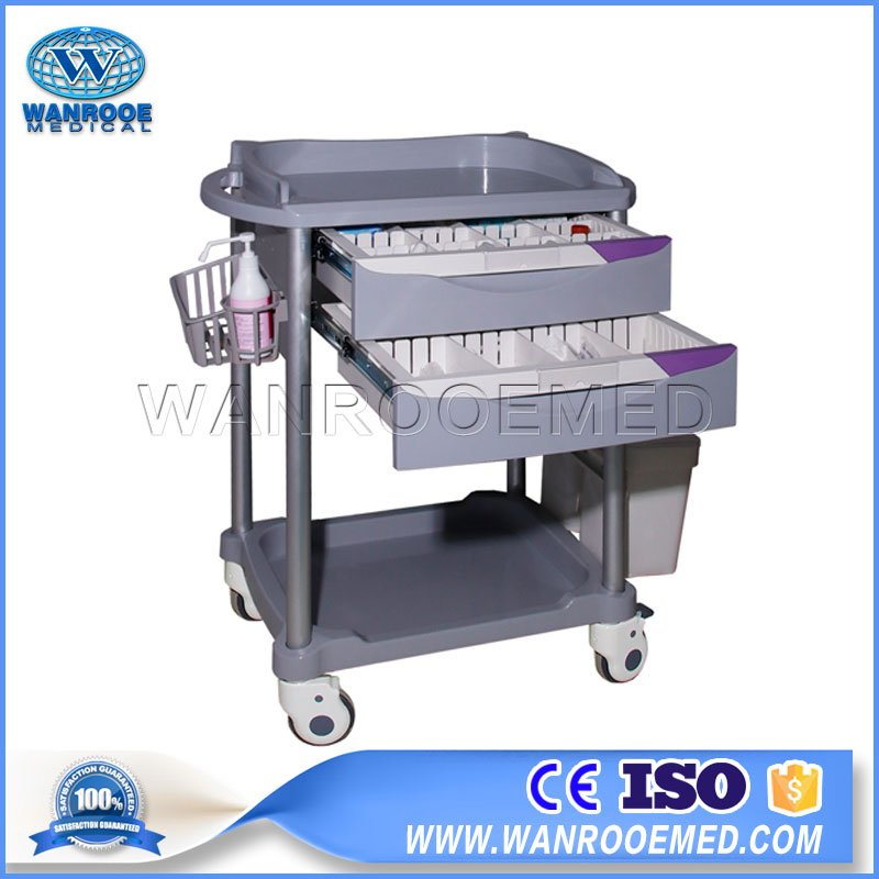 77 Series ABS Hospital Emergency Medical Instruments Anesthesia Trolley Cart