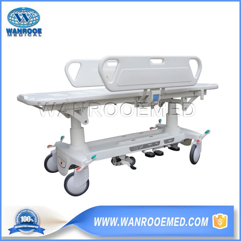 Emergency Transport Trolley, Hospital Transport Stretcher, Hydraulic Transfer Cart, Transfer Cart, Transfer Stretcher