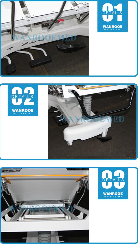 Ambulance Transfer Trolley, Hospital Transport Stretcher, Patient Transfer Cart, Hydraulic Stretcher, Transfer Cart