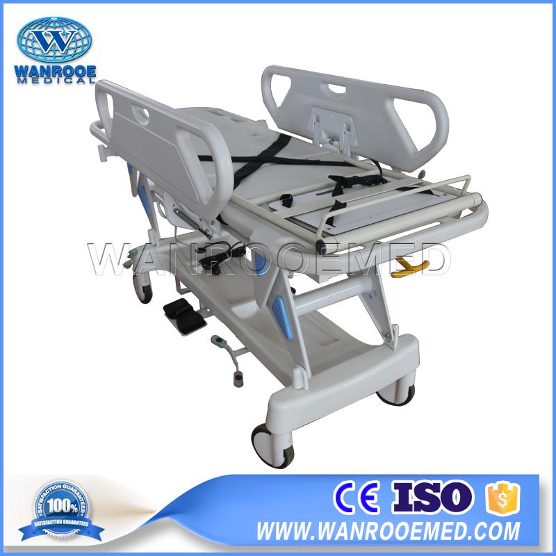 Hospital Transport Stretcher, Transfer Trolley, Patient Transfer Cart, Electric Transfer Cart, Transport Stretcher