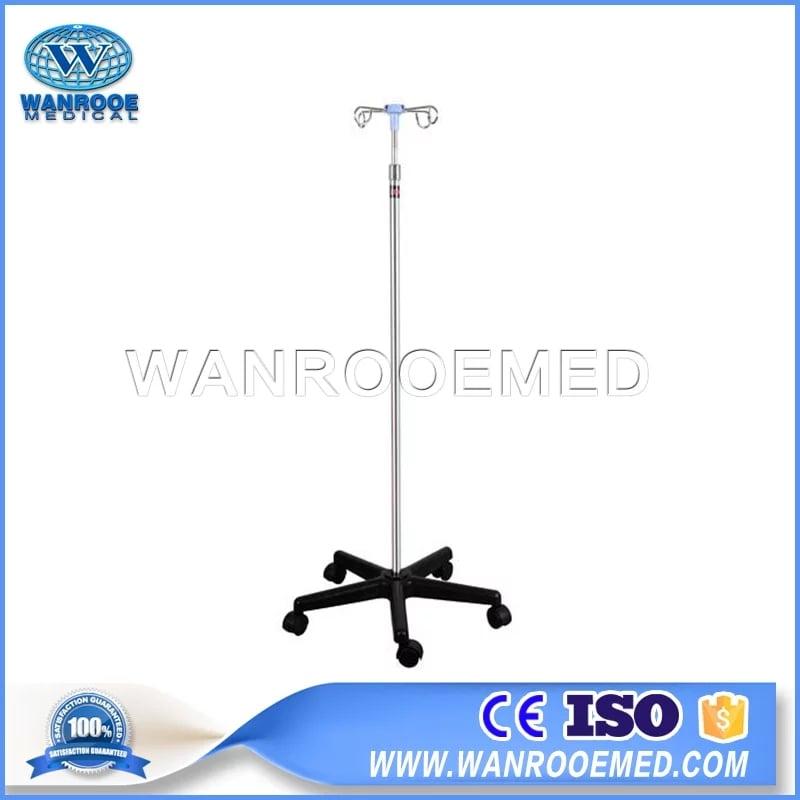 Medical Use IV Pole, Adjustable IV Pole, IV Pole, IV Stand, Hospital IV Pole, IV Pole Tray, Collapsible IV Pole