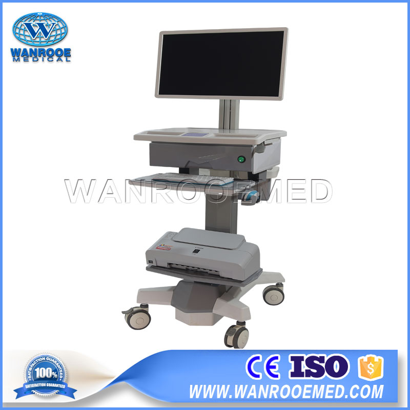 Hospital Mobile Cart, Adjustable Cart, Medical Trolley, Computer Trolley, HD Video Medical Trolley