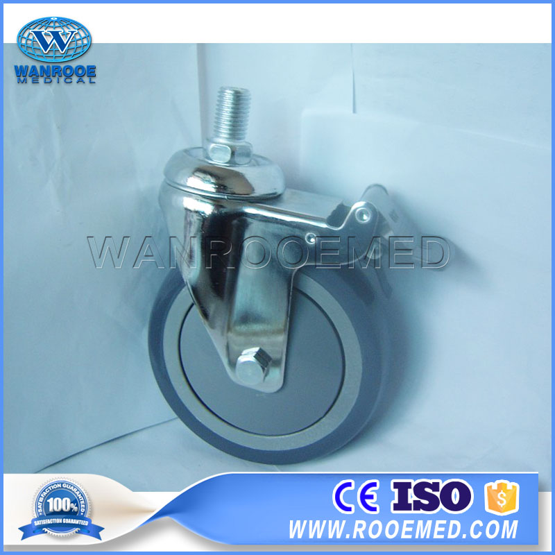 BCA55 Hospital Spare Parts 5 Inches Medical Universal Castors With Brake