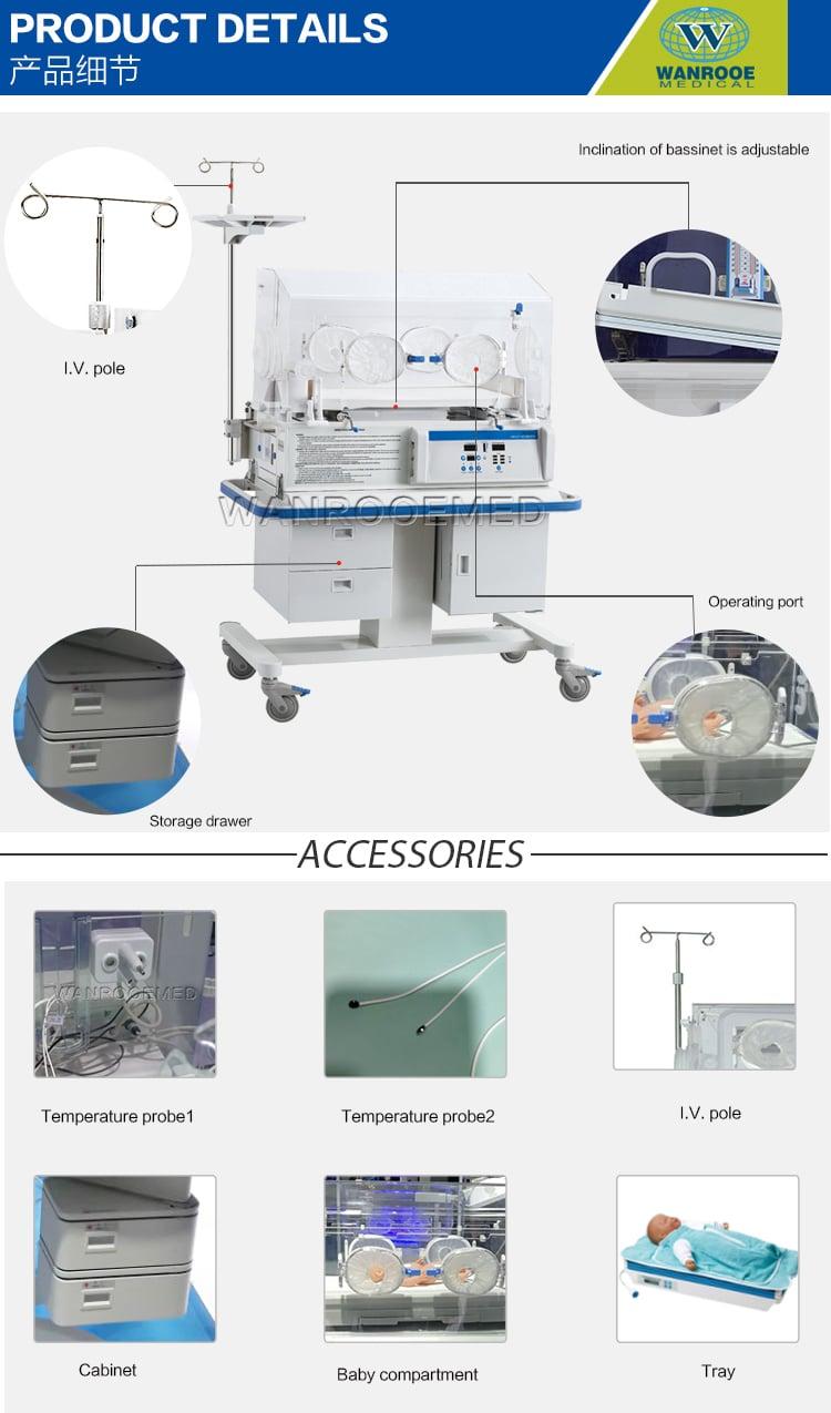 Baby Incubator, Transport Baby Incubator, Medical Equipment, Medical Infant Incubator, Newborn Incubator