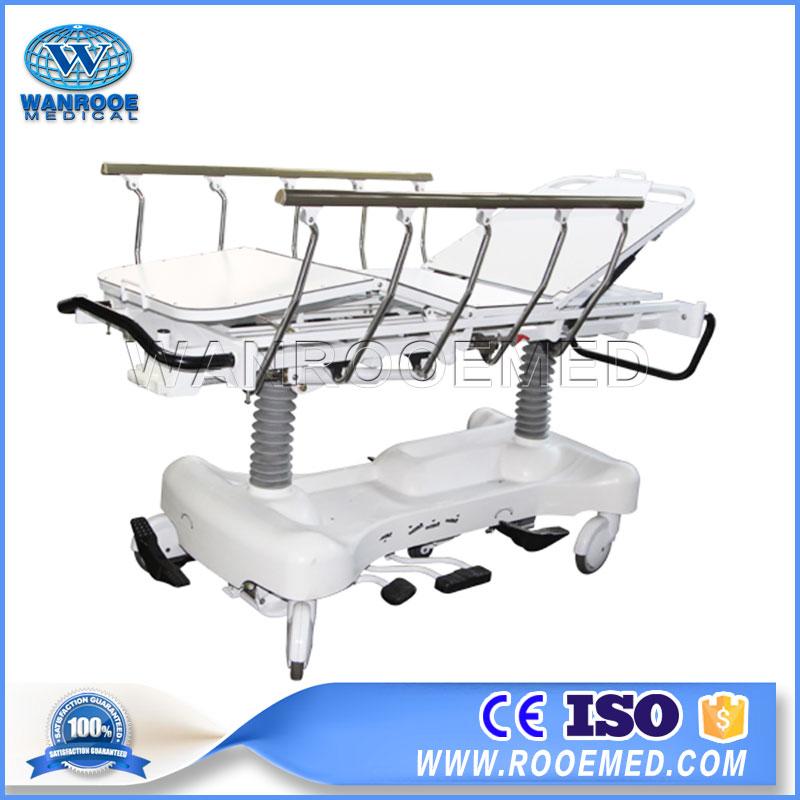 BD111BB Hydraulic Hospital Transport Stretcher Ambulance Patient Transfer Trolley Cart