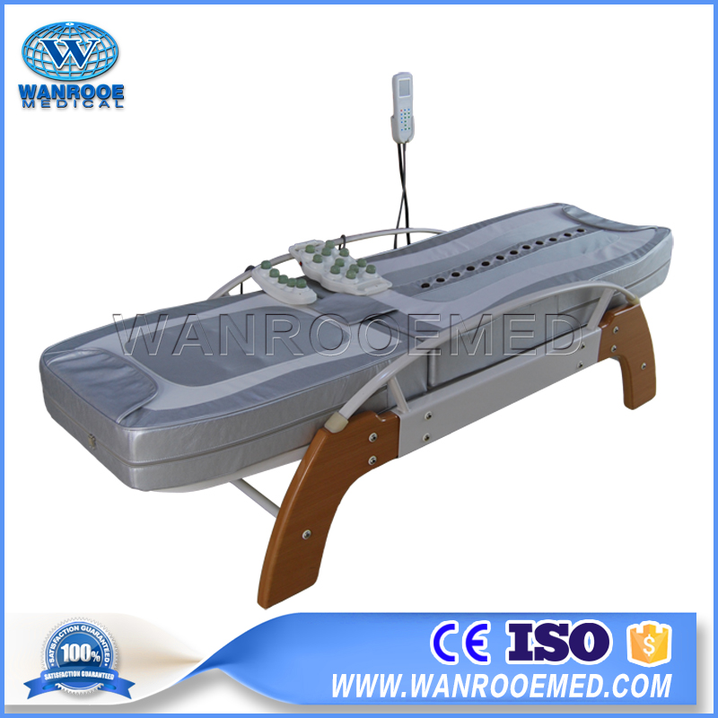 DB104 Medical Adjustable Thermal Roller Jade Massage Table Bed