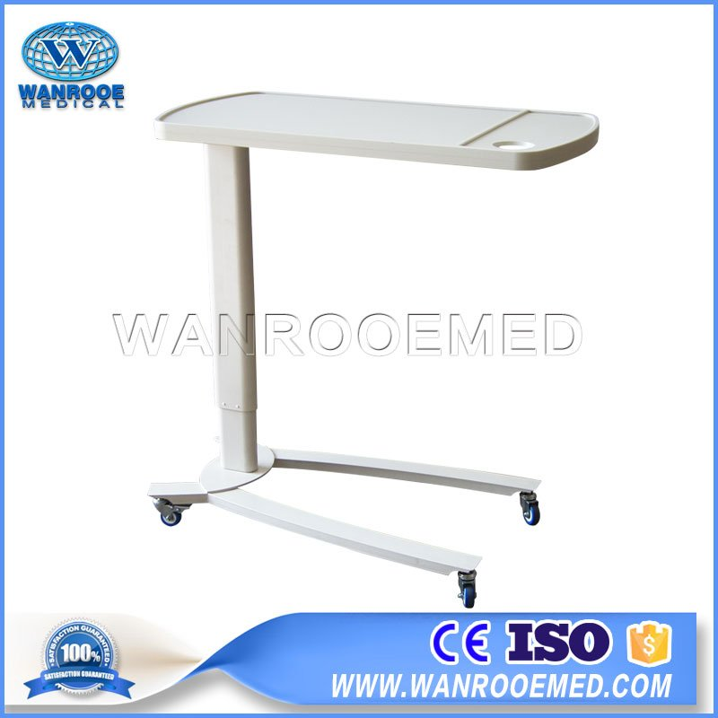 BDT002C ABS Material Table Board Adjustable Hospital Patient Bed Dining Table