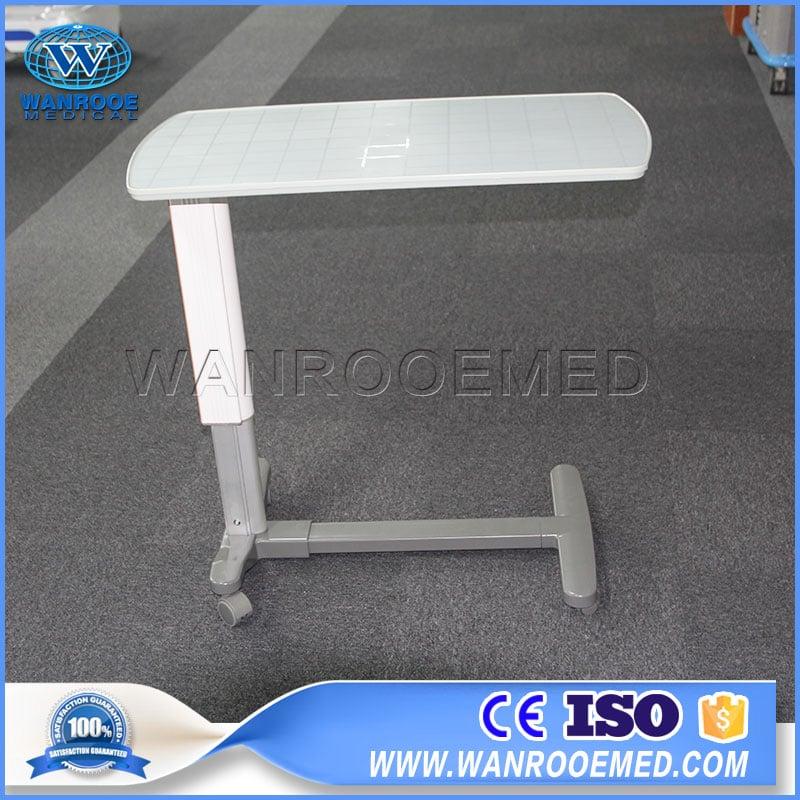 Adjustable Hospital Bedside Table, Medical Over Bed Table, Over Bed Table, Hospital Dining Table
