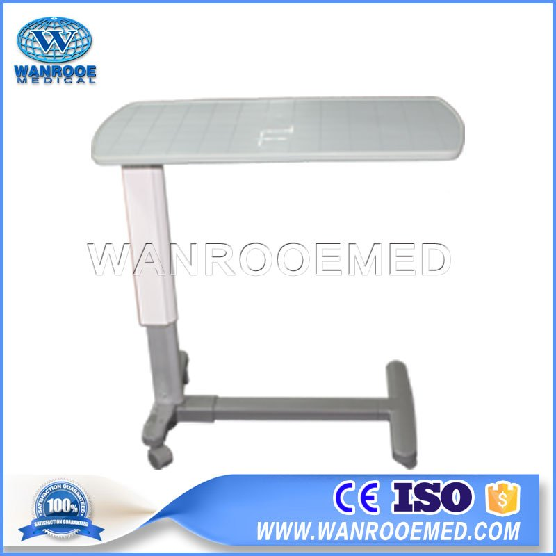 medical overbed table, overbed medical table, medical adjustable overbed table, adjustable hospital overbed table, hospital type overbed table