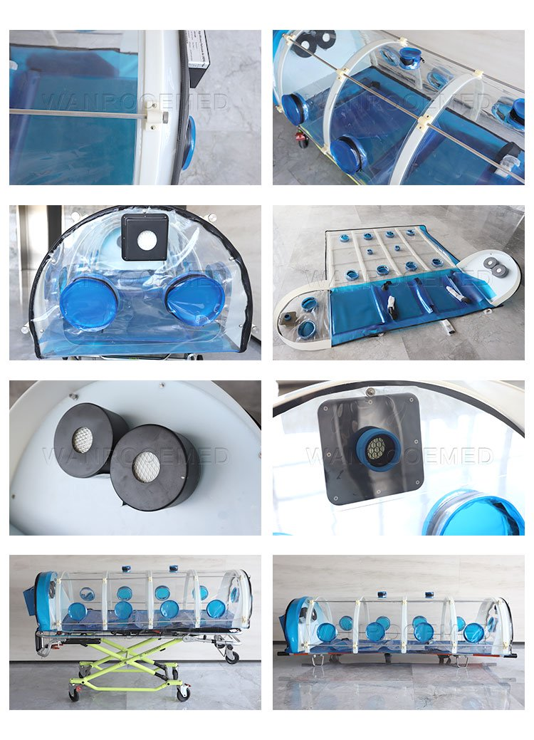 Medical Isolation Stretcher, Isolation Chamber, Patient Isolation Stretcher, Emergency Stretcher, Portable Isolation Stretcher