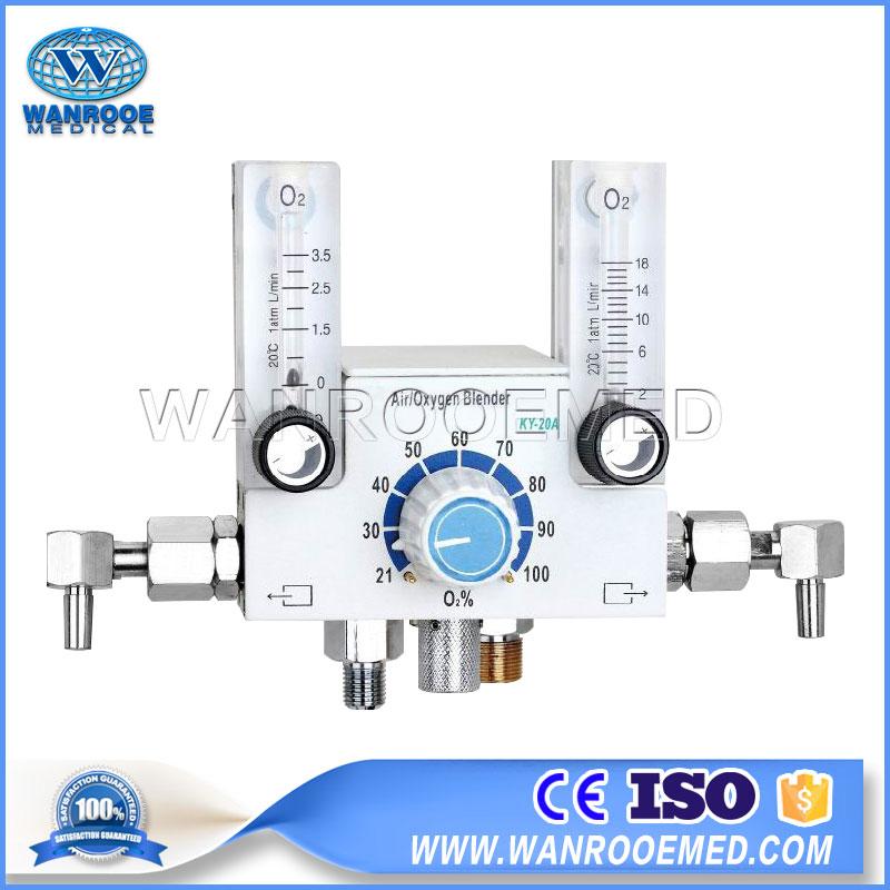Double Flowmeter Air Oxygen Blender, Air Oxygen Blender, Infant Infant, Premature Infant Air Oxygen Blender