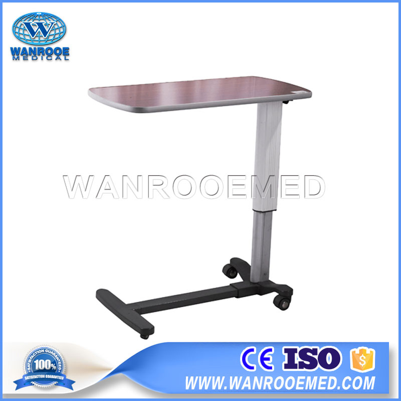 BDT002B Adjustable Medical Over Bed Table Hospital Food Table Dining Table