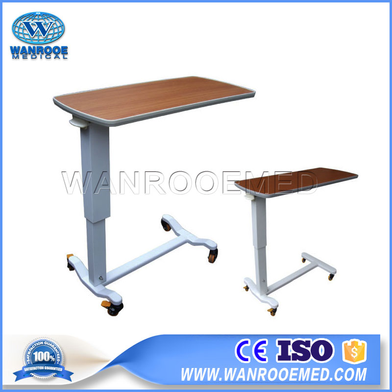 BDT001A/B/C/D /E/F Adjustable Patient Over Bed Table Hospital Bed Table With