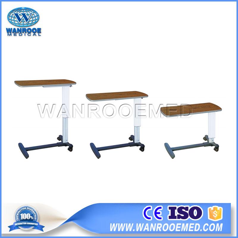 Adjustable Hospital Bedside Table, Over Bed Table, Movable Table, Hospital Over Bed, Hospital Dining Table