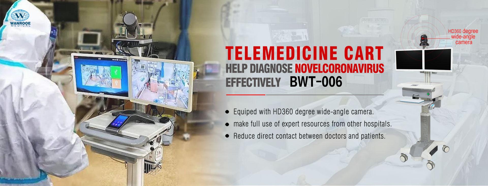 Telemedicine Cart, Telemedicine Trolley, Medical Computer Cart, Medical Laptop Cart, Medical Computer Trolley