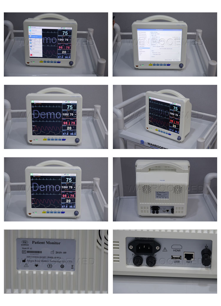 Patient Monitor, Portable Patient Monitor, Coronavirus Patient Monitor, Hospital Patient Monitor,Multiparameter Patient Monitor