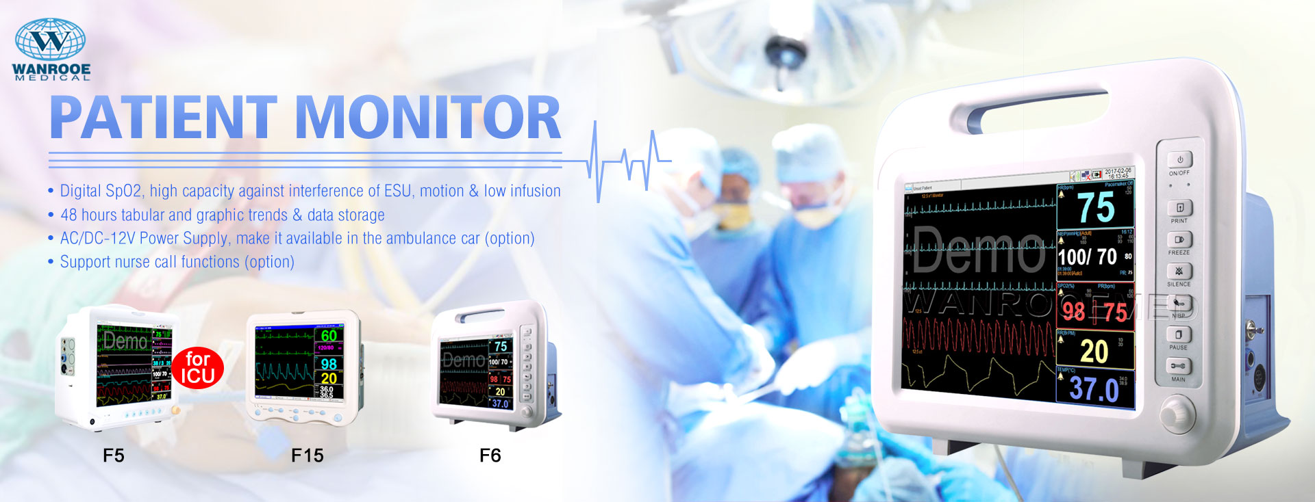 Patient Monitor, ICU Patient Monitor, Portable Patient Monitor, Multi Parameter Patient Monitor