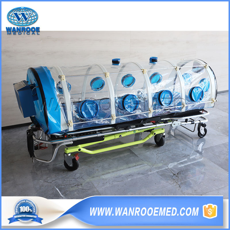 Isolation Chamber Stretcher, Isolation Patient Stretcher, Hospital Isolation Chamber, Isolation Stretcher