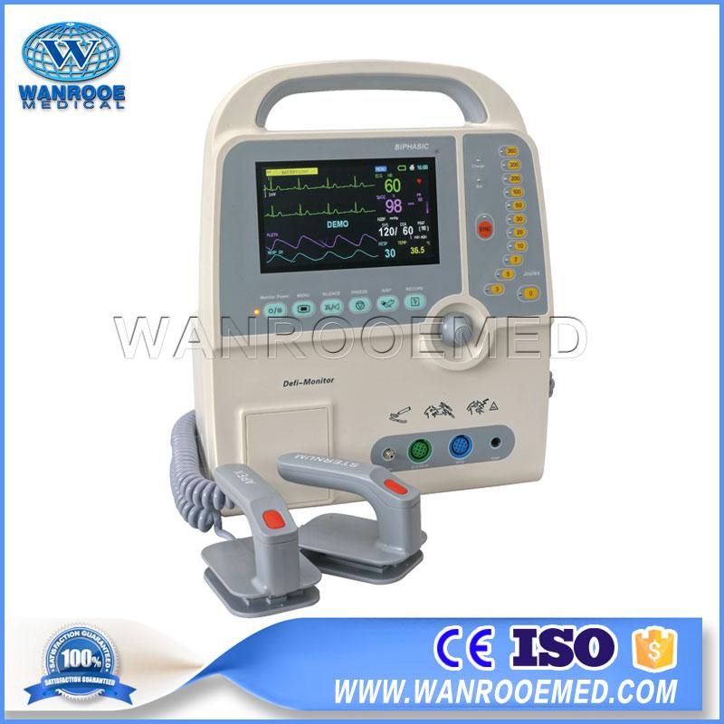 AED Portable Defibrillator, Defibrillator Machine, Hospital Biphasic Defibrillator