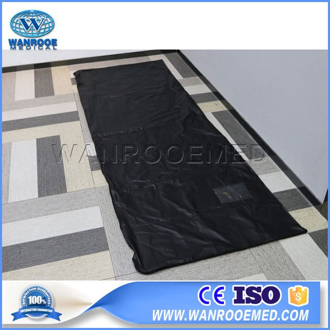 PVC Cadaver Bag, Dead Body Bag, Cadaver Bag, Disposable Cadaver Bag, Heavy Duty Body Bag, Three Sides Zipper Body Bag