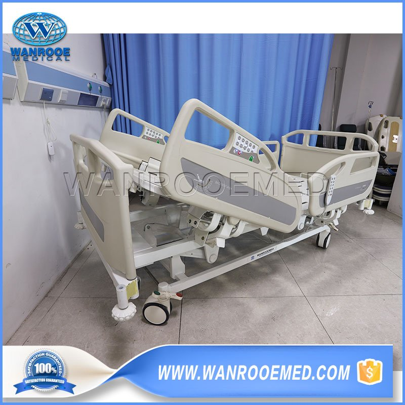 hospital bed, electric hospital bed, patient bed, electric ICU bed, 5 functions hospital bed