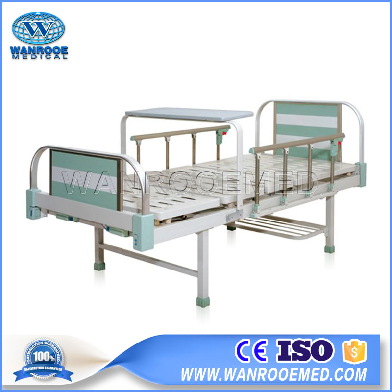 Adjustable Manual Bed, Foldable Manual Bed, 2 Crank Manual Hospital Bed, Patient Care Manual Sick Bed