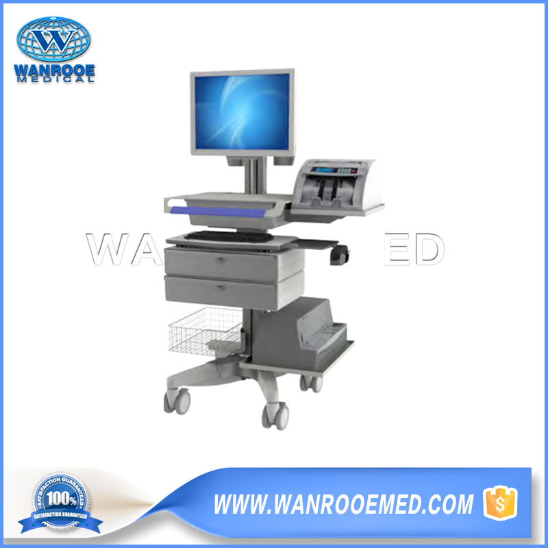 Medical Workstation Carts, Hospital Computer Cart, Computer Trolley Cart, Medical Laptop Cart, Medical Computer Cart