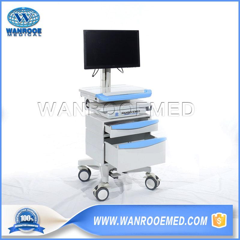 Workstation Trolley, Workstation Cart, Computer Cart, Computer Trolley, Mobile Workstation Cart, Medical Computer Trolley