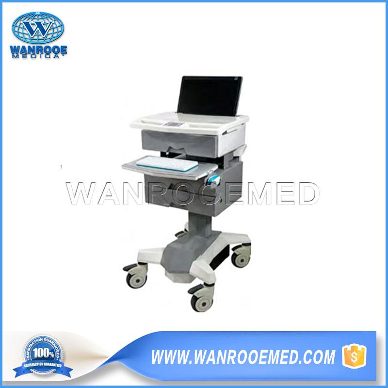 Medical Computer Cart, Hospital Laptop Cart, Medical Workstation Trolley, Hospital Computer Cart, Mobile Medical Computer Cart